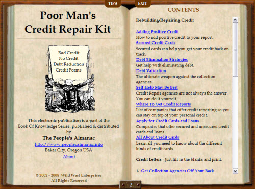 Poor Mans Credit Repair 1.1