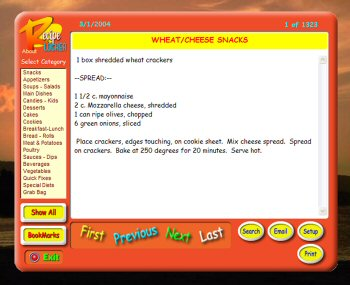 The Recipe Locker software screenshot